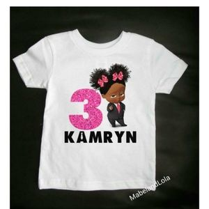 Personalized Girl Boss Baby Birthday Party T Shirt Boutique